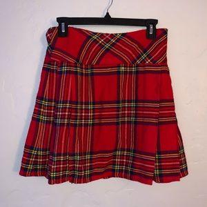 Skirts - Plaid Tartan Mini Skirt/Kilt